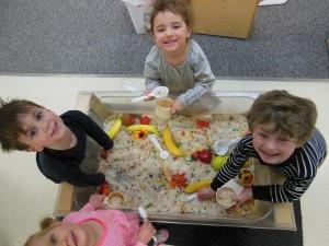 Preschoolers at Noah's Ark Child Care Center